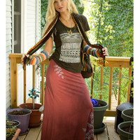 NEW! Branches Recycled Maxi Skirt: Soul-Flower Online Store