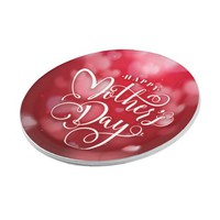 Modern Red White Hearts Happy Mother`s Day Paper Plate