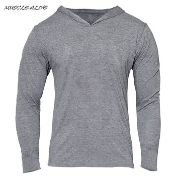 Gyms Hoodies Bodybuilding Clothing Long sleeve Fitness Muscle Clothes Tight Men Cotton Slim Tracksuit Home Pullover moletons