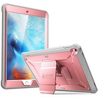 iPad 9.7 2017 case, SUPCASE [Heavy Duty] [Unicorn Beetle PRO Series] Full-body Rugged Protective Case with Built-in Screen Protector & Dual Layer Design for Apple iPad 9.7 inch 2017 (RoseGold/Gray)