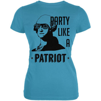 4th of July Party like a Patriot Juniors Soft T Shirt
