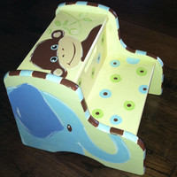 Animal Crackers Hand Painted Step Stool