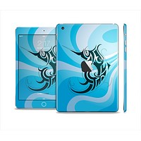 The Vector Blue Abstract Fish Skin Set for the Apple iPad Mini 4