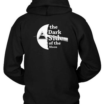 CREYH9S Pink Floyd The Dark Side Of The Moon Black And White Hoodie Two Sided