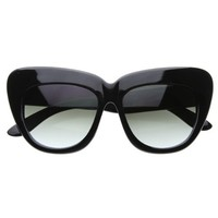 Oversized High Fashion Designer Inspired Bold Cat Eye Sunglasses Cateyes