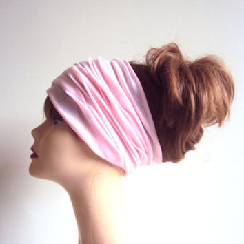Candy Pink Tube Bandana Dreadlock HeadBand Wide Head Band Yoga Bandana Women Men Fashion Accessories Cowl Gift Ideas Beach Accessories