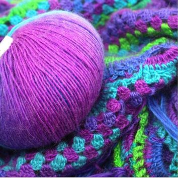 1 Ball Super Soft Cashmere Hand Wool Shawl Scarf Knitting Yarn