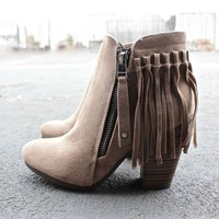 DCCKHNW boho fringe ankle booties - more colors