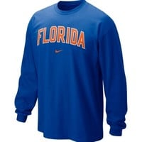 Nike Men's Florida Gators Blue Classic Arch Long Sleeve Shirt - Dick's Sporting Goods