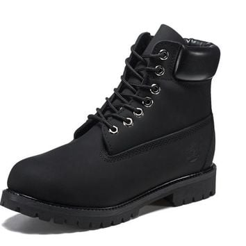 Best Deal Online Timberland 10061 Leather Lace-Up Boot Men Women Shoes Black