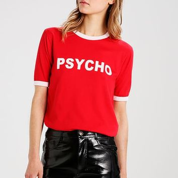 ELSA HOSK PSCYCHO - Print T-shirt - red - Zalando.co.uk
