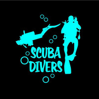 Scuba Divers decal Scuba Diver car decal Scuba Diver vinyl decal Scuba Divers Car decal Scuba Diver Sticker Scuba Diver Decals