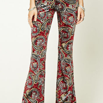Paisley Flared Velvet Pants