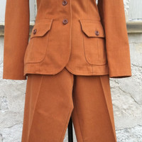 70's Vintage Two Piece Suit by Bronson of California