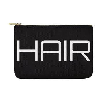 HUGE Unique 12x8 Oversize Hair Cosmetic Bag