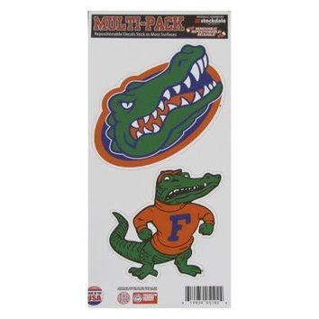 NCAA Florida Gator Logo and Al Repositionable Decal Multi-Pack