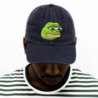 Pepe The Sad Frog Cap