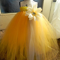 Rays of Sun Tutu Dress-Baby Tutu Dress-Toddler Silver Tutu Dress-Tulle Tutu Dress Yellow Tutu Dress-Tutu-Flower Girl Dress-Photo Prop