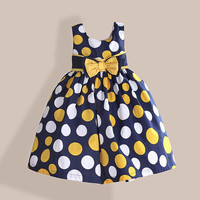 Cotton Yellow Dot Dress Summer Baby Girl Kids Clothes by CasualQolbi
