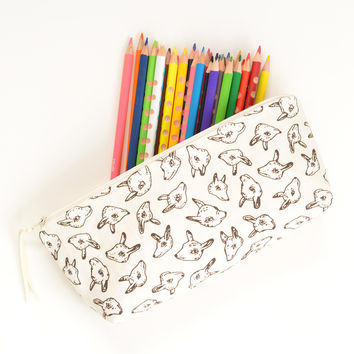 Animal Heads Pencil Pouch