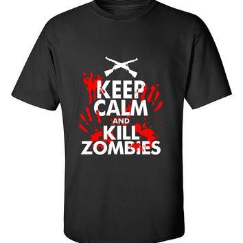 Keep Calm And Kill Zombies Funny T-Shirt