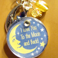 I Love you to the MOON and Back-necklace-mother,child,sister,friend,daughter