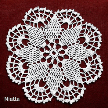 Crochet Lace Doily Pattern Favors Pouch Weddings Christenings Instant download PDF Niatta