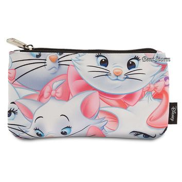 Licensed cool MARIE CAT The Aristocats Pouch Cosmetic Bag Purse Loungefly Disney Store NEW