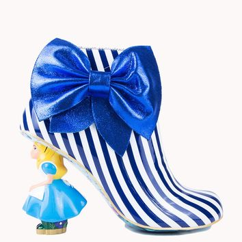 IRREGULAR CHOICE ALICE IN WONDERLAND WHO IN THE WORLD AM I BLUE AND WHITE STRIPE - What's New
