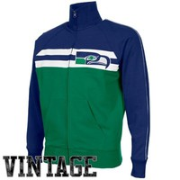 '47 Brand Seattle Seahawks Game Day Full Zip Track Jacket - College Navy/Green