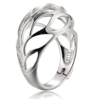 Open Wave Design Dome Ring