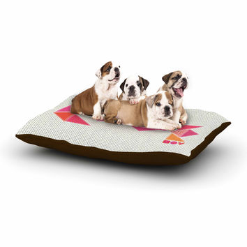 "MaJoBV ""Stitched Love"" Pink Geometric Dog Bed"