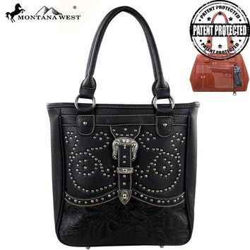 Montana West MW127G-8561 Buckle Concealed Carry Handbag