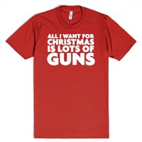 Funny 'All I want for christmas is guns'