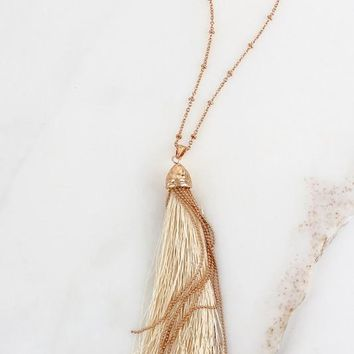 Thread And Chains Tassel Necklace