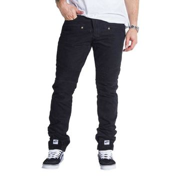 ONETOW Embellish NYC Elemento Jeans In Black