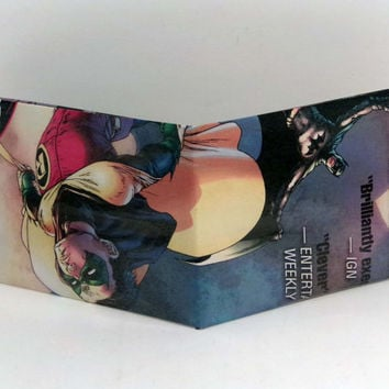 Comic Book Wallet// Batman (Dick Grayson) and Robin (Damian Wayne)