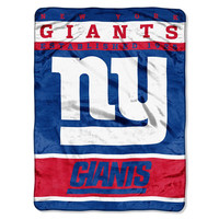 New York Giants NFL Micro Raschel Blanket (12th Man Series) (46in x 60in)