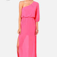 LULUS Exclusive One and Only Hot Pink Maxi Dress