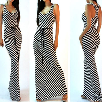 Elegant Women Summer Boho Slim Long Maxi Party Beach Long Dress = 5657563841