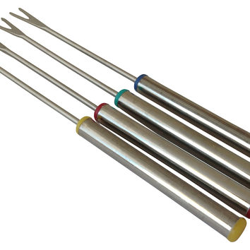 Stainless Fondue Forks, S/4