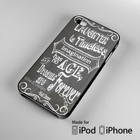 Walt Disney quote black and white iPhone 4S 5S 5C 6 6Plus, iPod 4 5, LG G2 G3, Sony Z2 Case