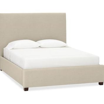 RALEIGH UPHOLSTERED NAILHEAD SQUARE BED & HEADBOARD