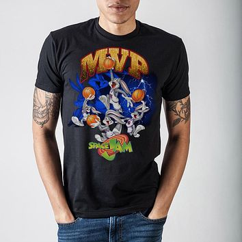 Space Jam Bugs Mvp Mens Black  T-Shirt
