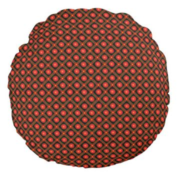 Dark geometric pattern round pillow