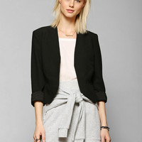 Sparkle & Fade Kate Collarless Cropped Blazer - Urban Outfitters