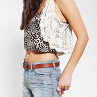 Urban Outfitters - Kimchi Blue Cropped Lace Vest