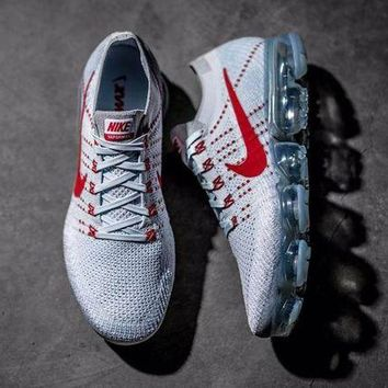 DCC3W Nike VaporMax  Light Grey x Red