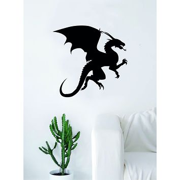 Dragon Silhouette Quote Wall Decal Sticker Bedroom Living Room Art Vinyl Nursery Son Daughter Teen Kids