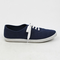 """""""Buddy"""" Canvas Lace Up Walking Sneakers - Navy Blue from H.C.B. - Products tagged with sport, shoeswomen, accessories"""